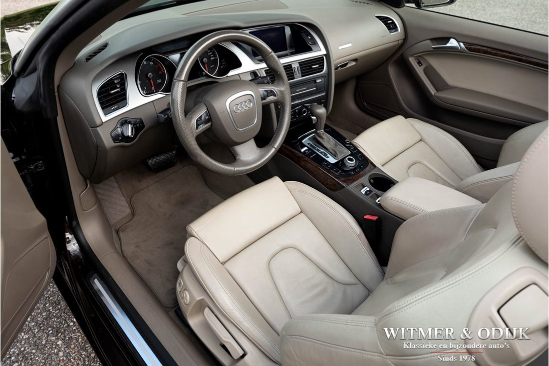 Interieur Audi A5 Cabriolet 2.0TFSI Pro-line Automatic, heated seats and headrests '10 61.000km